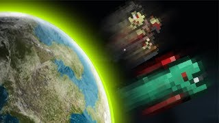Terraria: Max Knockback Weapons Vs Lightest Monster!!