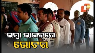 Repolling underway in booth no. 62 of Brahmagiri Assembly seat