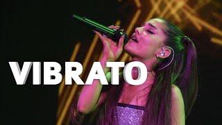 Ariana Grande - VIBRATO on UPPER BELTS!