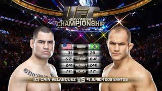 Cain Velasquez vs Junior Dos Santos FULL FIGHT - UFC HeaVyweight Championship