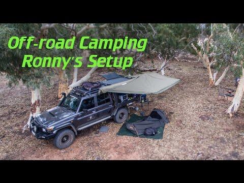 off-road camping setup