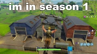 I tried playing SEASON 1 Fortnite using a glitch and this happened...
