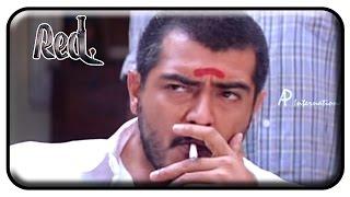 Red Tamil Movie | Scenes | Ajith Stabbed by Salim Ghouse | Priya Gill | Raghuvaran | Deva