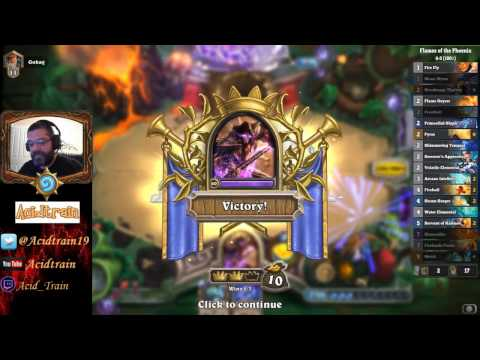 Hearthstone Mage: Flames of the Phoenix win!