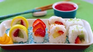 Fresh Fruit Sushi Dessert (Vegan & Dairy-Free Recipe) - Gemma