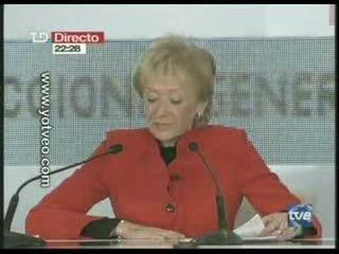 ELECCIONES ESPAÑA 2008 GANA PSOE