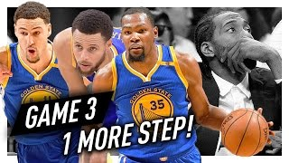 Stephen Curry, Kevin Durant & Klay Thompson WCF Game 3 Highlights vs Spurs 2017 Playoffs - CRAZY!