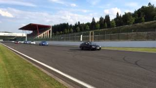 2014 BIMMERPOST M3 / M4 European Delivery Group Parade at Spa Francorschamps (on track)