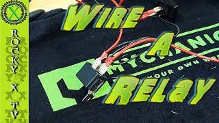 How To Wire a 4 or 5 Pin Relay