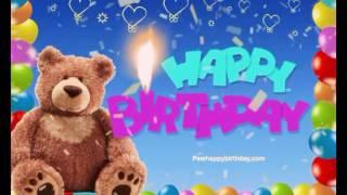 Happy Birthday Teddy Bear Video