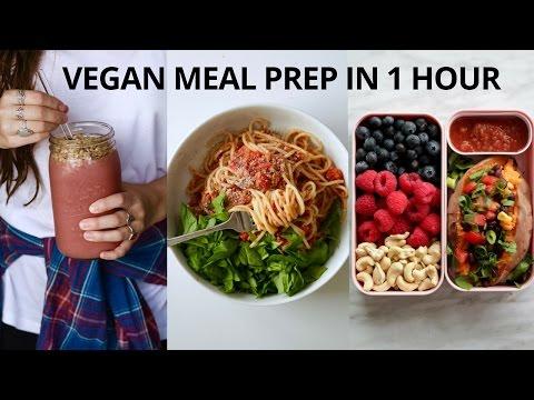 VEGAN MEAL PREP FOR THE WEEK (IN 1 HOUR)