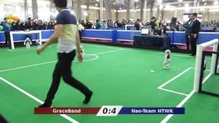 Nao-Team HTWK vs. GraceBand - Robocup Iran Open 2016