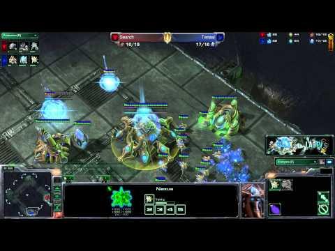 Search (T) VS Tensai (P) -- Starcraft 2 [LAGTV]