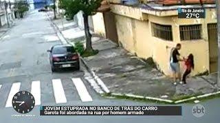 Câmera flagra ação de estuprador na Zona Leste de São Paulo   SBT Brasil (20/01/18)