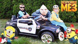 Universal Despicable Me 3 Gru loses his Minion! Swat team Ryan saves day! Epic silliness!