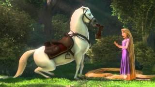 Rapunzel n Flynn meet Maximus scene from Tangled HD