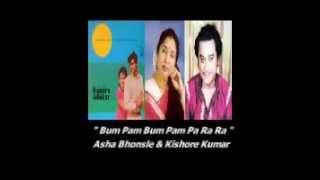 Bum Pam Bum Pam .. Asha Bhonsle & Kishore Kumar + Aris San. (Hindi Lyrics Only).).