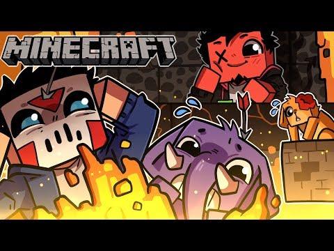 I BUILT AN EPIC ROYAL DEATHRUN Minecraft w H2O Delirious Squirrel & Rilla