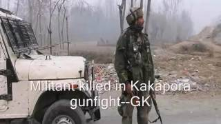 Militant killed in Kakapora gunfight