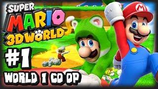 Super Mario 3D World Wii U - (1080p) Co-Op Part 1 - World 1