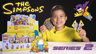 LEGO SIMPSONS SERIES 2 Minifigures! Surprise Blind Bag Opening!