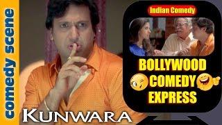 Govinda Comedy Scenes | Bollywood Comedy Express |  Kunwara | Indian Comedy