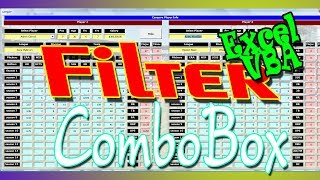 Filter ComboBox by Textbox Value Using Enter Key - FranchiseBall Excel Program Feature Keydown