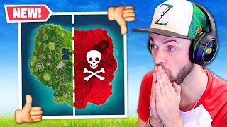 Fortnite but HALF the map is BANNED!