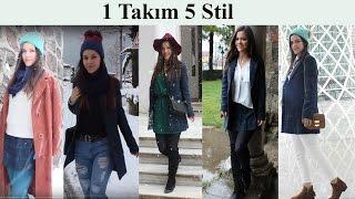 Look Book / 1 TAKIM 5 KOMBİN /NASIL GİYİYORUM/Kış Stilim II