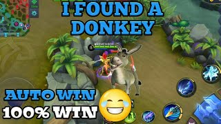 DONKEY IN MOBILE LEGENDS | AUTO WIN 😂 | MOBILE LEGENDS