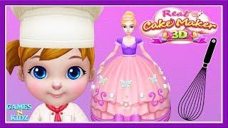 Fun Kids Cooking - Baby Boss Cook Princess Cake - Real 3D Cake Maker Kids Game