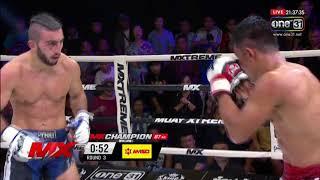 มาดสิงห์ ราไวย์มวยไทย vs โกคาน โบราณ  : Mx Muay Xtreme Highlight ยกที่ 3 : 22 มิ.ย. 61