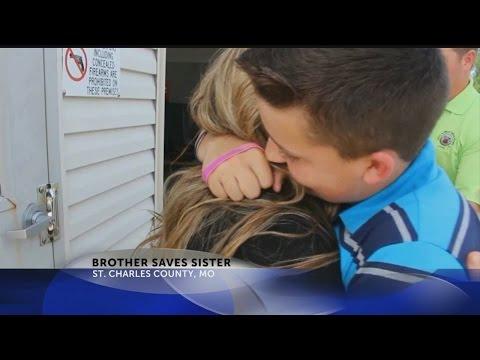 Brother saves sister