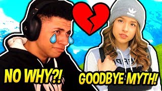 MYTH GETS REJECTED BY POKIMANE FOR ANOTHER MAN! (EMOTIONAL) Fortnite FUNNY & SAVAGE Moments