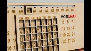 DIY Laser Engraved Wood Perpetual Calendar - Download Free Cut File