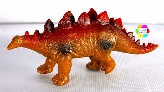 لعبة الديناصور الضخم الحقيقى وحيوانات الغابة للاطفال اجمل العاب حديقة الديناصورات للبنات والاولاد