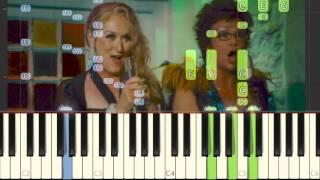 ABBA goes Piano! - 8. Super Trouper (Mamma Mia) [Piano Tutorial] // Synthesia