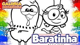 Desenho Galinha Pintadinha Dona Baratinha DVD Galinha Pintadinha para crianças Learning colors Kids