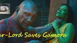 Star-Lord Saves Gamora. Guardians of the Galaxy