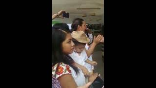 José Pablo Minor y Laura Vignatti ensayando escenas en Oaxaca para Mi marido tiene familia Daniela y