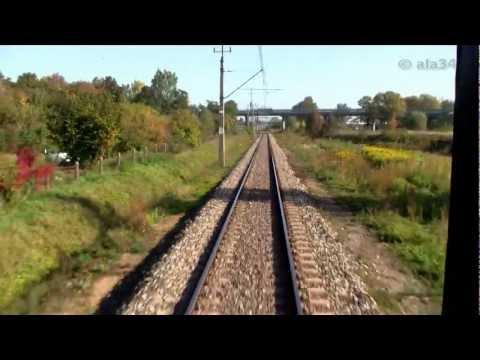 Train ride Przejazd pociągiem TLK Sulechów Czerwieńsk linia 358