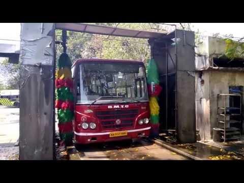 Bus bathing at BMTC Depot 2 (Shanthinagar)