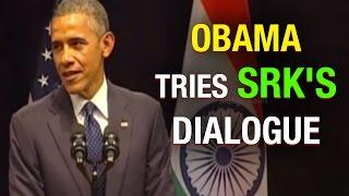 US President Obama tries SRK DDLJ dialogue: Senorita, bade bade deshon mein