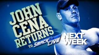 John Cena returns to SmackDown LIVE next Tuesday!