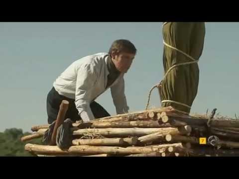 Burning at stake scene from a telenovela