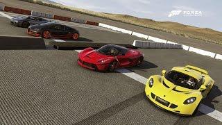 Bugatti Veyron SS Vs Hennessey Venom GT Vs Ferrari La Ferrari Vs Koeniggsegg Agera | Drag Race