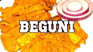 বেগুনি Beguni Iftar Recipe Sylheti Ranna Batter Fried Brinjal Ramadan Bangladeshi Cooking in Bangla