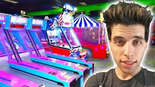 MY NEW FAVORITE ARCADE! PLAYING NEW GAMES WINNING ARCADE TICKETS!