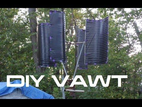 DIY Vertical Wind Turbine VAWT