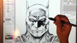 Drawing BATMAN and Bruce Wayne with Clip Studio Paint (Manga Studio)